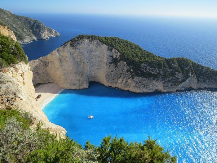 La spiaggia di Navagio, la spiaggia più bella di Zante, Isole Ionie, Grecia